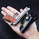 chouge games Eat Chicken 3.5'' metal P18C Pistol Model Figure Arts Toys Collection Keychains Gift within Holster