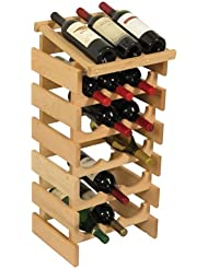 Wooden Mallet 18 Bottle Dakota Wine Rack With Display Top Unfinished