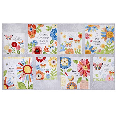 Wilmington Prints Sing your Song Craft 24''Panel Fabric, Multicolor