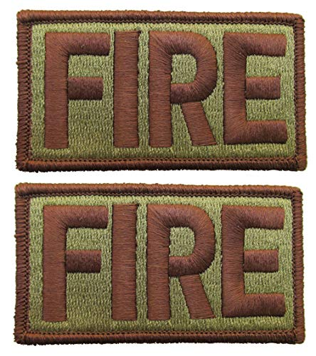 2 Pack of Air Force FIRE OCP Patch Spice Brown - Fire Fighters