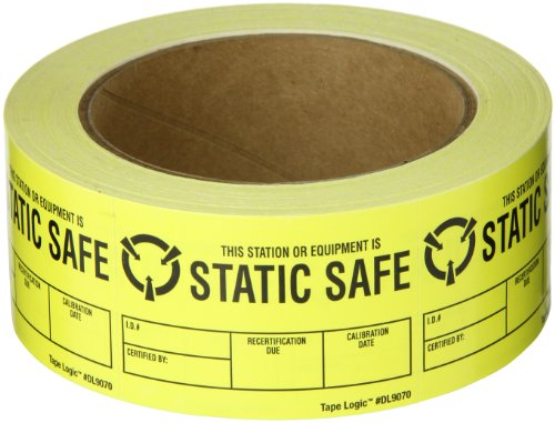 Static Warning Labels - Tape Logic DL9070 Anti Static Label, Legend
