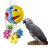 Parrot Chew Toy for Bird Macaw African Greys Eclectus Budgies Parakeet Cockatiel Cockatoo Conure Amazon Lovebirds Cage Bells Toy