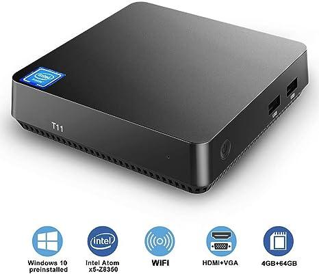 Amazon.com: T11 Mini PC Intel Atom Z8350 Windows 10 Pro Mini ...