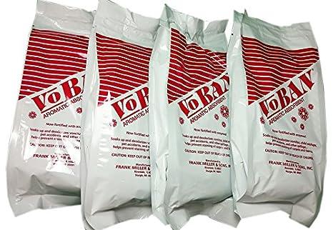 4 unidades - 1 Lb bolsas voban aromático absorbente con ...