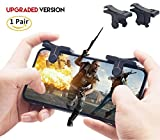 Cheap Mobile Gaming Triggers [2018 Upgraded Version], V4 Shoot and Aim Sensitive L1R1 Shooter Controller + Carry Case for PUBG/Fortnite/Rules of Survival, Get Triggered for Android or IOS,