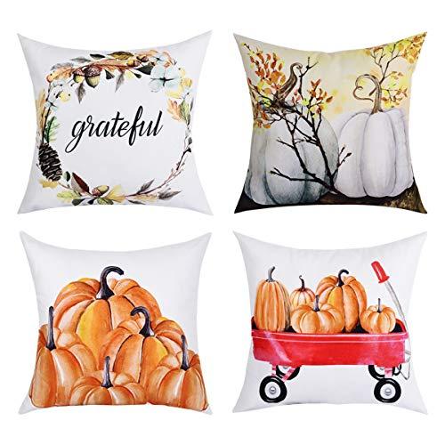 BLEUM CADE Autumn Decorations Pumpkin Throw Pillow Cover