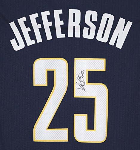 Al Jefferson Indiana Pacers Signed Autographed Blue #25 Jersey