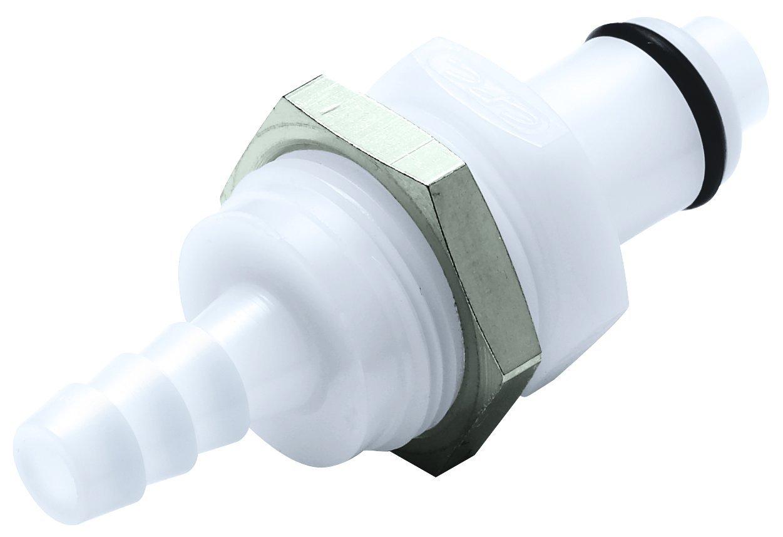 Panel Mount Colder PLCD42004 Acetal Tube Fitting 1//4 Insert x 1//4Barb Shutoff Insert