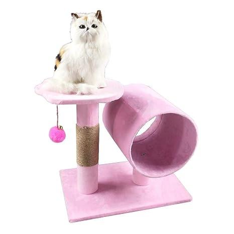 Dixinla Árbol Gatos Muebles de Juguete para Mascotas Gato agarra Consejo Nido casa Grab Columna Gato