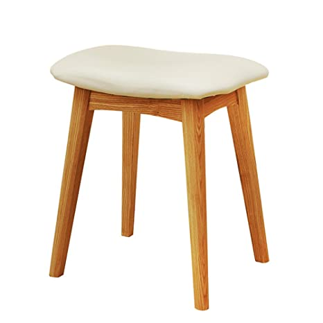 Amazon.com: Barstools LHA Full Solid Wood Dressing Stool ...