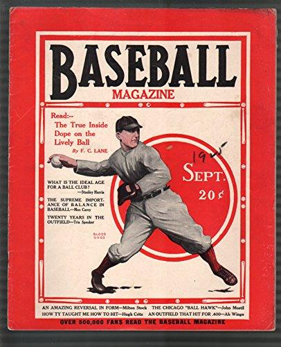 - Baseball Magazine 9/1925-Max Carey-Jim Bottonley-MLB-pix-info-FN