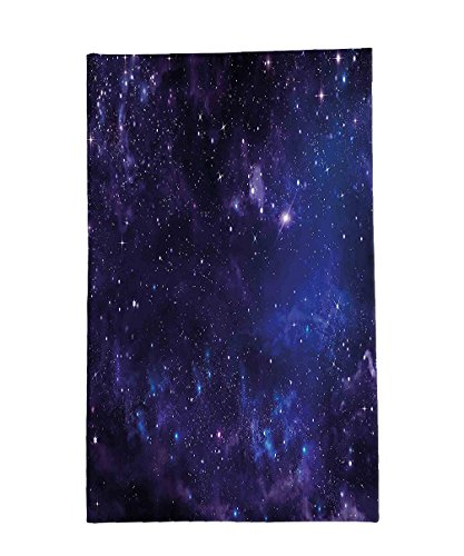 Interestlee Fleece Throw Blanket Galaxy Celestial Stars in Night Sky Stardust with in Clouds Magical Fantasy World of Space Navy Blue (Stardust Bass)