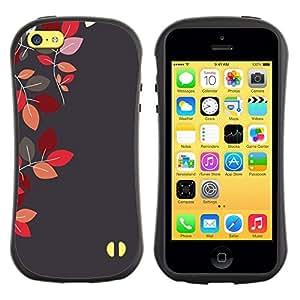 Suave TPU GEL Carcasa Funda Silicona Blando Estuche Caso de protección (para) Apple Iphone 5C / CECELL Phone case / / Red Maroon Grey Gray Autumn /