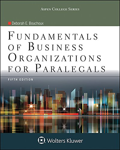Pdf Law Fundamentals of Business Organizations for Paralegals (Aspen College)