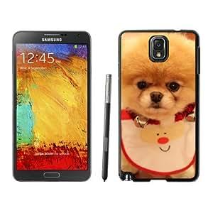 Personalization Christmas Dog Black Samsung Galaxy Note 3 Case 23