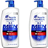 Head and Shoulders, Shampoo and Conditioner 2 in 1, Anti Dandruff, Old Spice Swagger for Men, 32.1 fl oz, Twin Pack