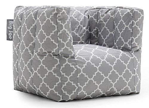 Big Joe Cube Quatrafoil Printed Smartmax Chair, Gray by Big Joe