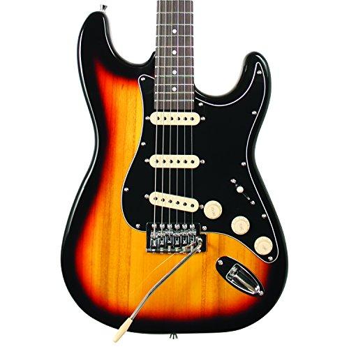 Sawtooth ST-ES-SBB-BEG ES Series ST Style Electric Guitar Beginner's Pack, Sunburst with Black Pickguard