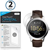 Fossil Q Founder Gen 2 (2016) Screen Protector, BoxWave [ClearTouch Crystal (2-Pack)] HD Film Skin - Shields From Scratches for Fossil Q Founder Gen 2 (2016)