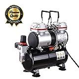 Koval Inc. Airbrush Compressor Twin Cylinder Tank (Balck 3.5L Tank)