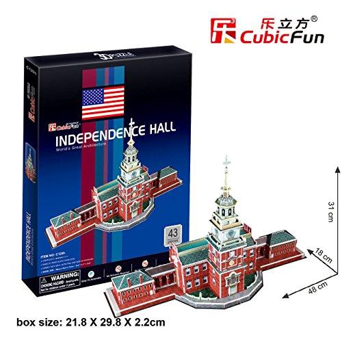 CubicFun C120H Independence Hall Puzzle Papercraft Model