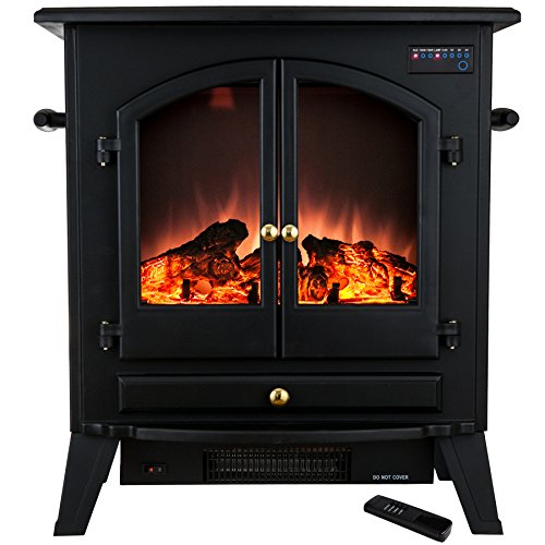 Golden Vantage 25' 1500W Freestanding Portable Adjustable Insert Electric Fireplace Stove Heater...