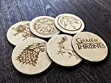 Game of Thrones Coasters, Set of 6, 8, 10, 12, 14, 16 Coasters Gift