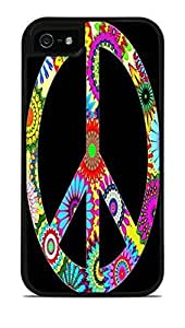 60s Design Peace Sign Black 2-in-1 Protective Case with Silicone Insert for Apple iPhone 6 4.7