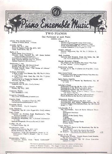Piano Ensemble Music To Pianos