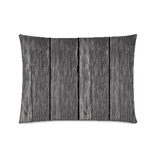 Custom Solid Wood Flooring Cotton Polyester Pillowcase Pillow Cover With Zipper Standard Size 20x26 (Twin Sides) by CustomizedHome (Image #1)