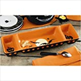 tag 751289 halloween nightscape 3-part chip and dip set