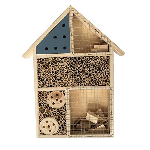PINVNBY Wooden Insect Hotel Bee House Habitat for Ladybugs(Ladybirds), lacewings, Butterfly, Mason