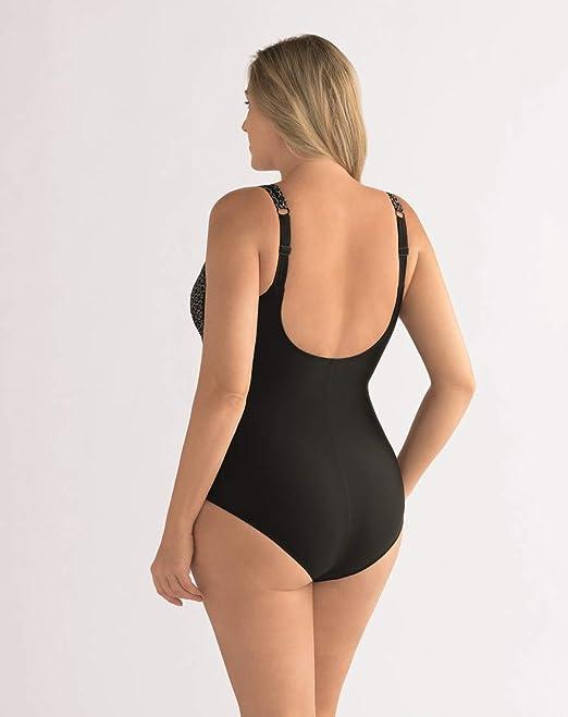 ba43ddfdb3 AMOENA Ayon Demi Corsage à Poches Femmes Maillot de Bain - Noir/Blanc:  Amazon.fr: Vêtements et accessoires