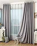 100% Handmade Ash Grey Thermal Insulated Blackout Window Curtain/Drapery/Panel/Treatment Multi-size available (Grommets top 50''Wx88''L)