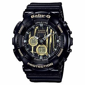 51CM8c7cV7L. SS300  - Casio Baby-G BA120SP-1A Scratch Pattern Black Analog Digital Watch Womens