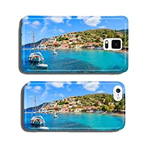 Sailboat on sea in Assos village, Kefalonia island, Greece cell phone cover case Samsung S6