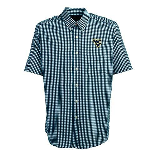 West Virginia Mountaineers Short Sleeve Button Down Shirt -