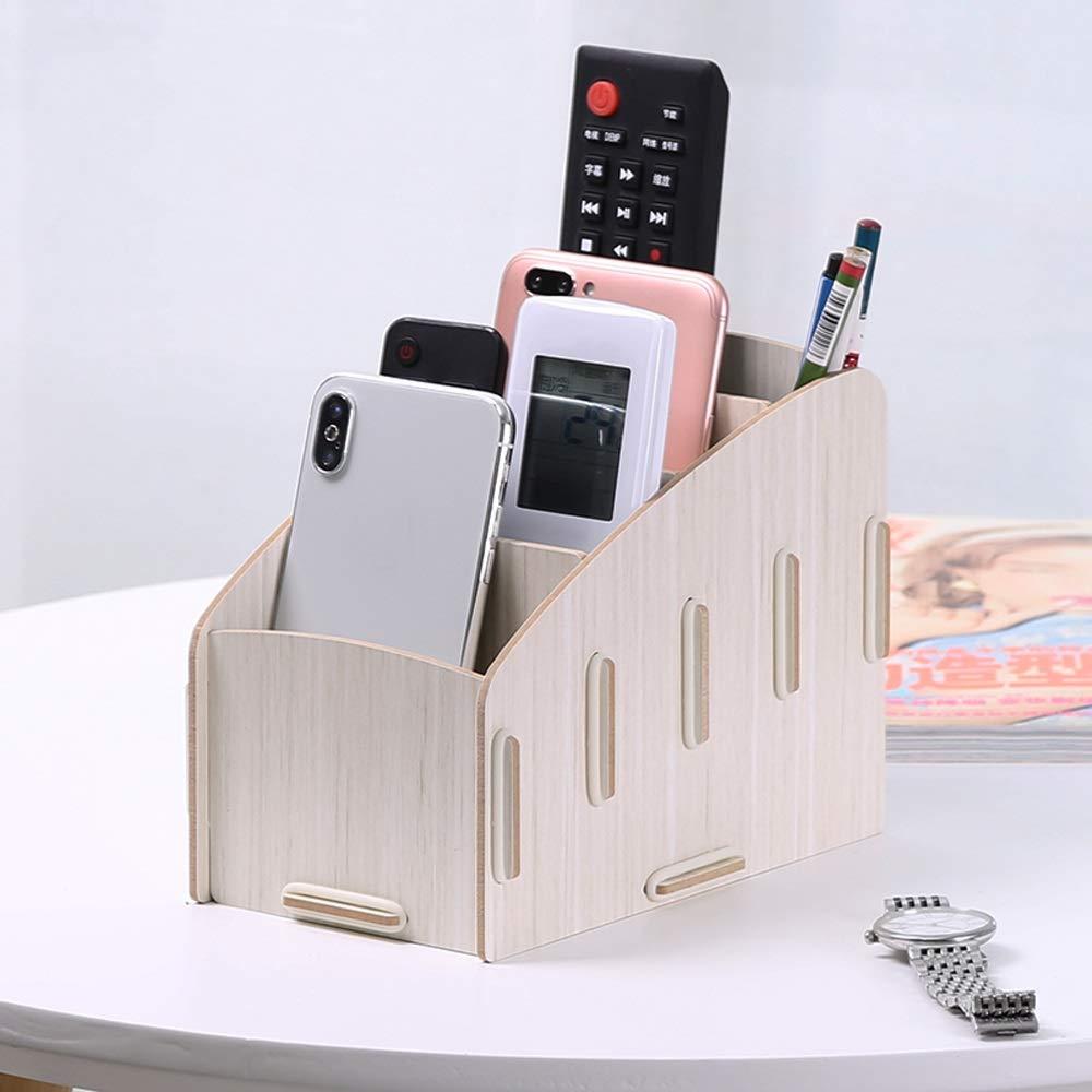 GaoJinZhuan TV-Fernbedienung Aufbewahrungsbox Nordic Home Wohnzimmer Kreative Desktop-Aufbewahrungsbox Multifunktions-Handy-Aufbewahrungsbox (Farbe   Weiß Maple) B07LBCRS6N | Verwendet in der Haltbarkeit