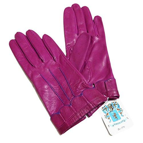 スモッグ命令確率[ポートランド] PORTLAND イタリア製 レザーグローブ(手袋) 紫 #8 PORTLAND  [並行輸入品]