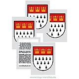 20 Köln Tattoos - Köln Stadtwappen Wappen Schild Aufkleber Sticker Kolonia Fasching & Karneval