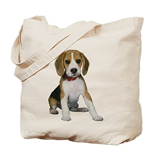 CafePress - Beagle Puppy - Natural Canvas Tote Bag, Cloth Shopping Bag