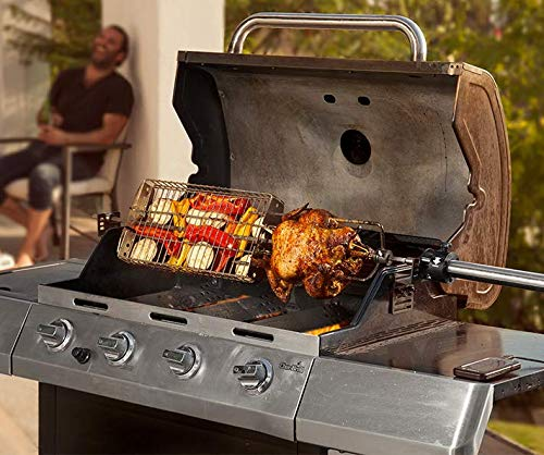 Stainless Steel Grill Basket Cooks Any Food!