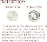 Clip Stopper Charms Sterling Silver Rondelle Spacer Bead for Bracelets (2