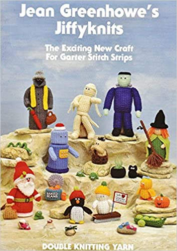 Jean Greenhowe Jiffyknits Book Easy Knit Garter Stitch Double Knitting Patterns