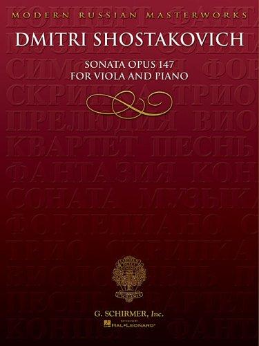 Dmitri Shostakovich Viola - Sonata, Op. 147: Viola and Piano