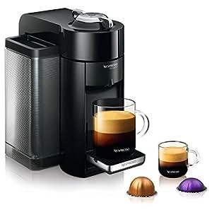 Nespresso GCC1-US-BK-NE VertuoLine Evoluo Coffee and Espresso Maker, Black