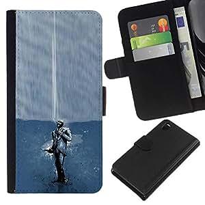All Phone Most Case / Oferta Especial Cáscara Funda de cuero Monedero Cubierta de proteccion Caso / Wallet Case for Sony Xperia Z3 D6603 // Smoking Spy - Tf2 Tf Game