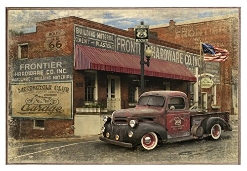 Hardware Store and Truck Distressed - Birch Wood Print