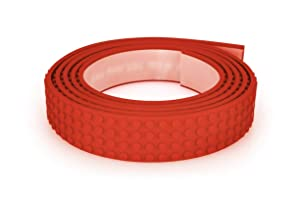 Mayka Toy Block Tape - 4 Stud - Red - 6 Feet - 2 Pack (Compatible with Lego)