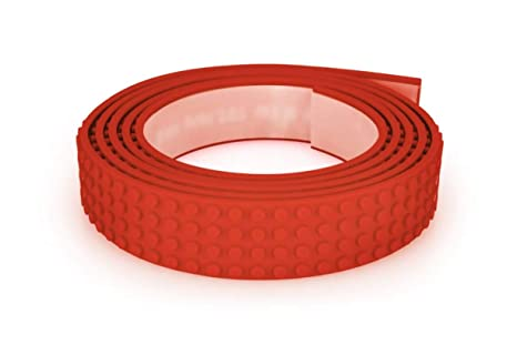 Amazoncom Mayka Toy Block Tape 4 Stud Red 6 Feet 2 Pack